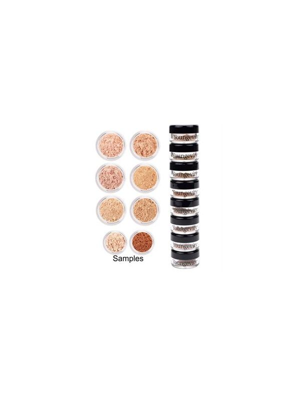 Mineral Makeup Sample Tower - Light to Medium